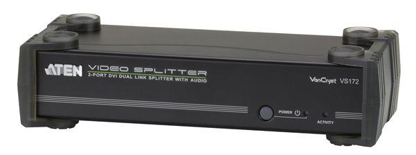 【送料無料】【3年保証】ATEN 1入力2出力 デュアルリンクDVI・オーディオ分配器【VS172】