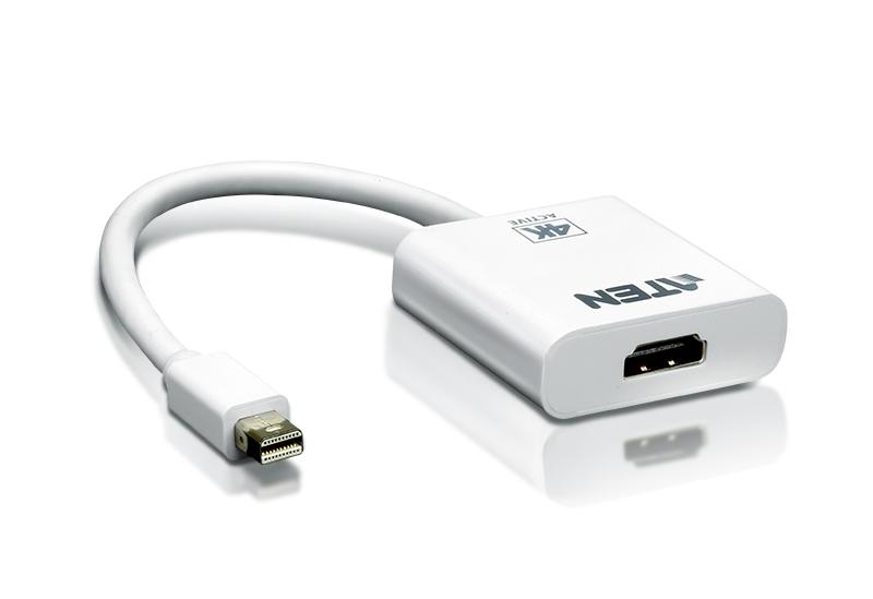 【3年保証】ATEN Mini DisplayPort → HDMIコンバーター(アクティブタイプ、4K対応) 【VC981】