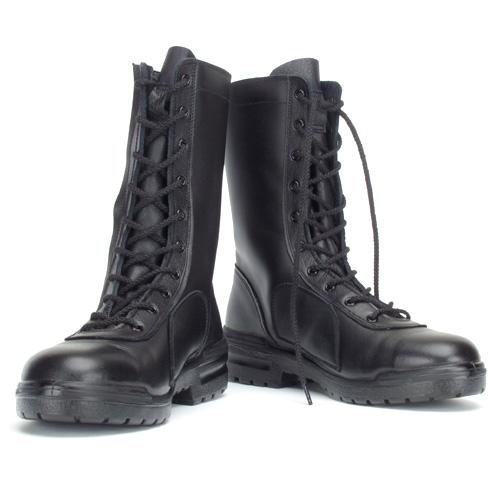 青木安全靴 D-300 JIS安全靴 本革 鋼製先芯 長編上靴 サイドファスナー 23.0-28.0cm EEE