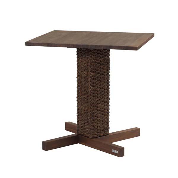 アジアン家具 @CBi LOTUS カフェテーブル 角型 幅70cm 奥行60cm 高さ70cm ウォーターヒヤシンス ラタン rtn-acts69dk