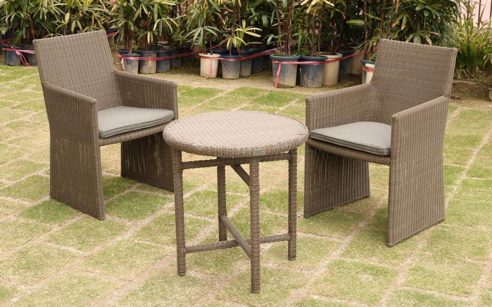 ラタン調テーブル エンジェル リゾートガーデン ラウンドテーブル 商品型番:rtn-t190pgy