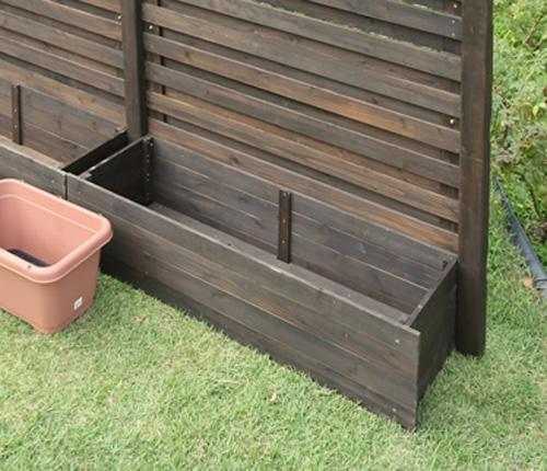 ボーダーフェンス用 菜園プランターカバー 幅127cm高さ30cm奥行41cmの大型鉢入れです。 商品型番:jspb-1270