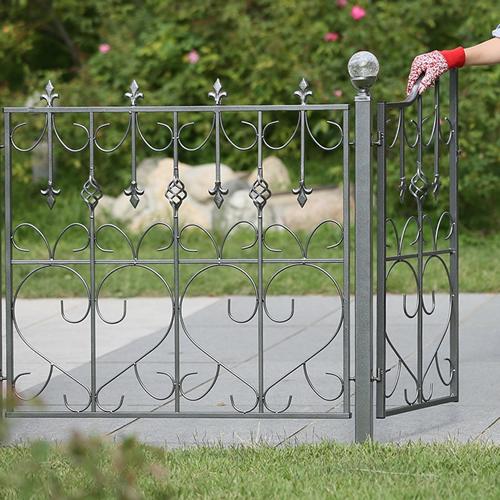 商品型番:jk0113lx2 ハイタイプのアイアンフェンス (アイアン・スチール製ガーデンフェンス) (4枚組み) 【送料無料!】 IBフェンス 【5月30日23時59分まで!最大7,000円オフのお値引きクーポン使えます!】 オーバル180 激安!