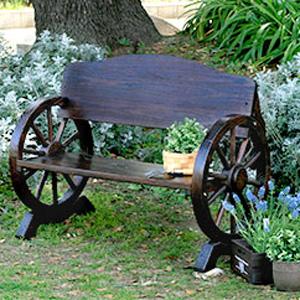 【送料無料】【車輪ベンチ 1100 WB-1100】 天然木 ガーデンベンチ お庭のベンチ 屋外用ベンチ