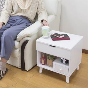 ミラー付きコスメテーブル 【ミニドレッサー&ミニコスメテーブル LT-1200WH】【送料無料】 [背面化粧仕上げ サブテーブルとしてもOK]