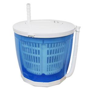 バケツ型手動洗濯機 【手回し式バケツ型洗濯機 HCW-100】 【送料無料】 [電気を使わず手動で洗濯・脱水 野菜の水切りにも]