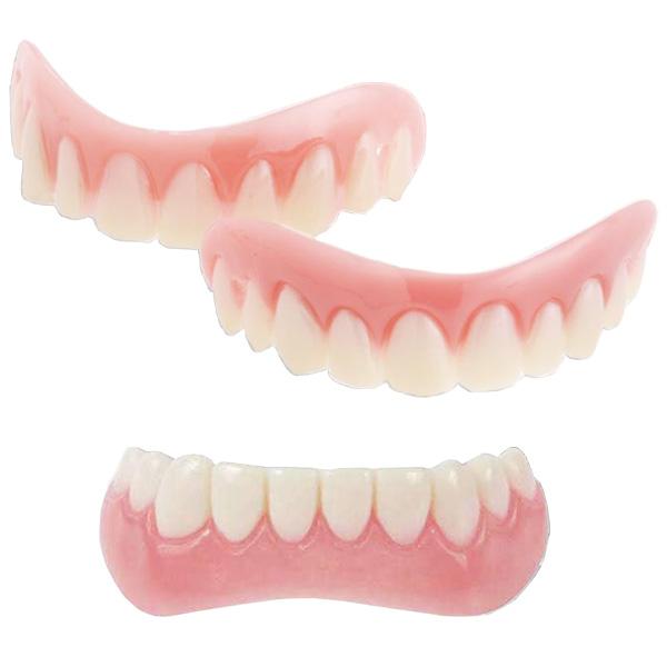 【在庫有】【インスタントスマイル 上下セット】 上歯と下歯のセット 仮歯 付け歯 義歯 すきっ歯 抜けた歯をカバー 歯の黄ばみを隠せる ティース トゥース 男女兼用