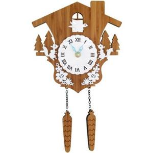 木製クロック はと 【DECOYLAB(デコイラボ) 掛け時計 CUCKOO 鳩時計 】[送料無料] はと時計 木製 鳩時計 リビング デザイン掛け時計 木製 ハンドメイド掛け時計 ウォールクロック