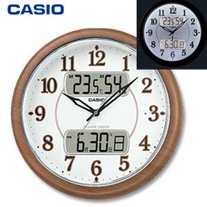【在庫有】\ページ限定・ティースプーン付/ カシオ フルブライト夜見えライト付きクロック ITM-900FLJ-5JF 【送料無料・代引料無料】 [電波掛け時計 LEDライト チャイム CASIO]