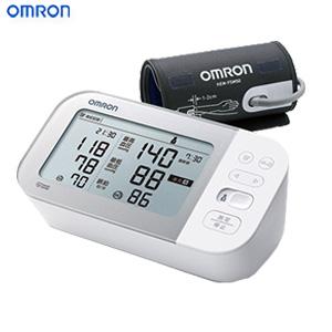 \ページ限定・ティースプーン付/ オムロン 上腕式血圧計 HCR-7502T 【送料無料・代引料無料】 [上腕血圧計 スマホ 簡単 健康管理 血圧管理 2人用 上腕式血圧計]