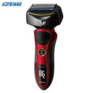 【在庫有】メンズシェーバー 深剃り 【IZUMI 4枚刃 深剃り 往復式シェーバー IZF-V86 レッド】 [送料無料・代引料無料] メンズシェーバー 洗える 電気かみそり ウォッシャブル 髭剃り]