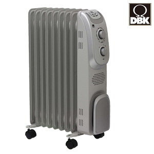 オイルヒーター 1000W 【DBK オイルヒーター DRM1009GM】 [送料無料] オイルラジエーターヒーター オイルヒーター ドイツ 電気ヒーター 安全 静音 オイルヒーター