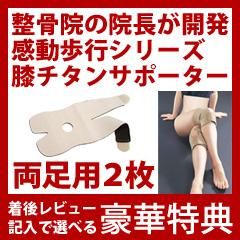 【膝用 2枚】 感動歩行 膝チタンサポーター [感動歩行シリーズの膝サポーター 2枚組]【送料無料】