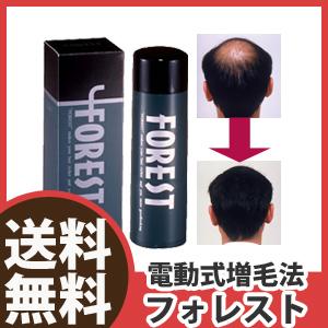 電源をオンにしてふりかけるだけで髪のボリュームアップ ★送料無料・日本製★【電動式増毛法フォレスト】