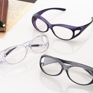 \ページ限定・ティースプーン付/ 【送料無料・一年保証】【オーバーグラス拡大鏡 S】 両手が使えるルーペ 両目用ルーペ メガネの上から装着できる拡大鏡