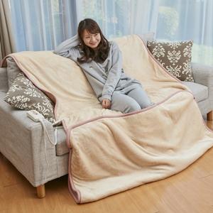 【送料無料】【フランネル電気毛布 セミダブルサイズ相当 OLK-M340 227t05387】電気敷き毛布 電気毛布 洗える電気毛布 掛け敷き兼用 タイマー付き