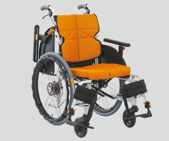 車椅子(ネクストコア・アジャスト) NEXT-51BA F1 自走式 オレンジ 550×960×880・900・920mm