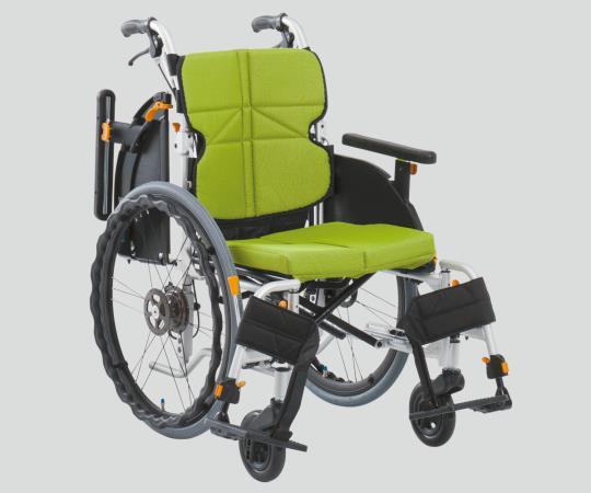 車椅子(ネクストコア・アジャスト) NEXT-51BA F3 自走式 ライトグリーン 550×960×880・900・920mm