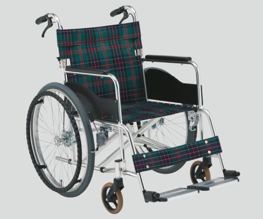 車椅子(アルミ製・ワイドタイプ) AR-280A S-2 自走式 725×1010×885mm/16.3kg