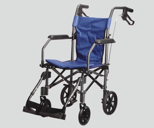 ハンディーライトプラス(折畳み式介助車椅子) ブルー 介助式 490×950×890mm 8.2kg