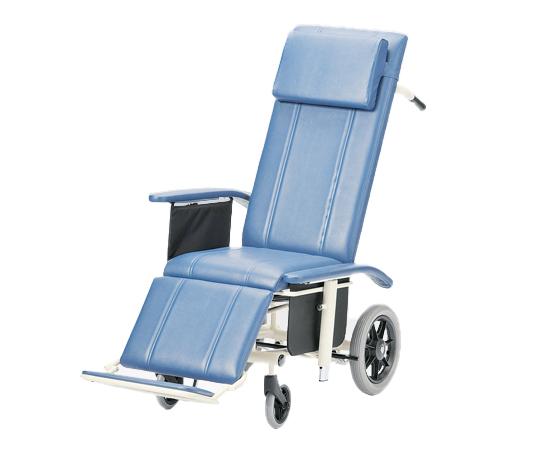 フルリクライニング車椅子 (スチール製) NHR-16 介助式 570×1170~1880×1210mm