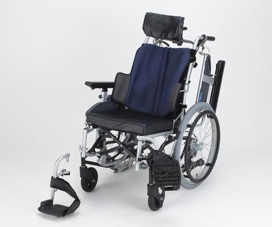 ティルト車椅子 (座王) NA-F7 座幅40cm GB 自走式 グレイッシュブルー