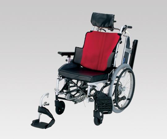 ティルト車椅子 (座王) NA-F7 座幅40cm WR 自走式 ワインレッド