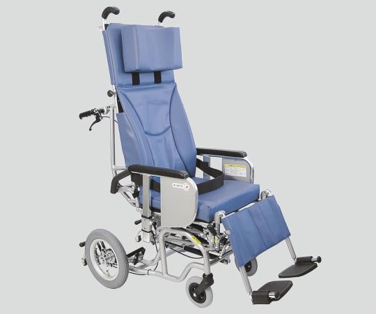 チルト&フルリクライニング車椅子 (クリオネット) AYK-40 No.40 介助式 青 610×1220×1350mm