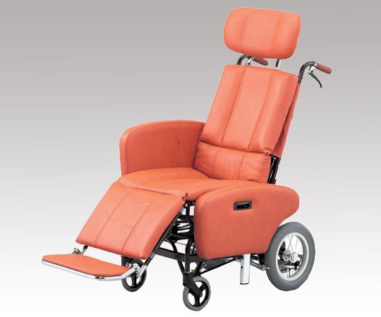 【代引き不可】 フルリクライニング車椅子 (スチール製) NHR-7B 介助式 600×1140×1310mm 約35.2kg