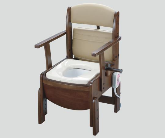 木製トイレ(きらく コンパクト) 18530 暖房便座 475×530×760~850mm
