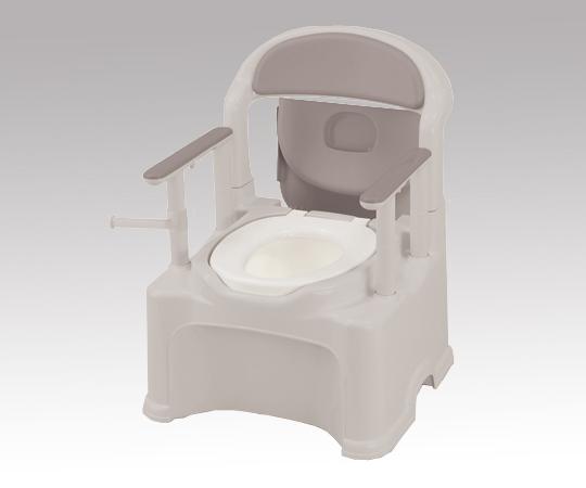 ポータブルトイレ(きらく) PS2 普通便座 580×568×768~868mm