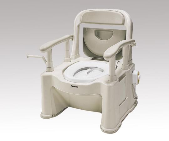 ポータブルトイレ (座楽) VALSPTSPS 背もたれ型SP ソフト便座・便フタタイプ 9.8kg