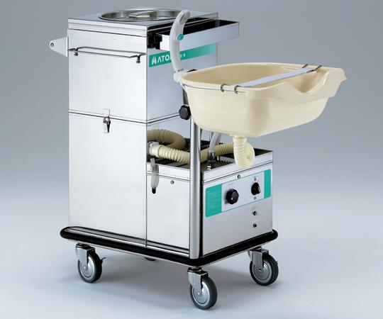洗髪車2型 NS-955 870×420×880mm 約36kg コンパクトで狭い病室でも場所をとりません 0-9556-01