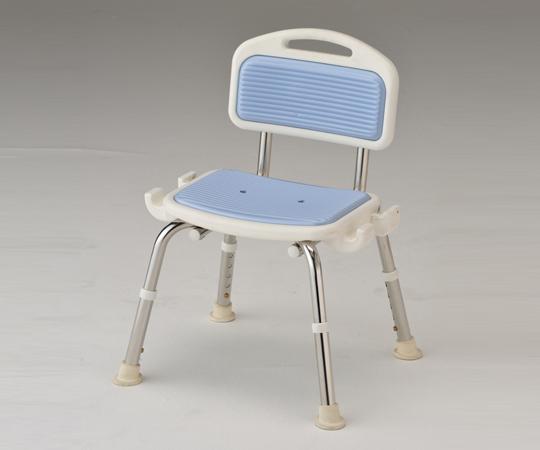 業務用シャワー椅子(ステンレスフレーム) 肘無し ブルー 520×440×640~740mm 頑丈なステンレスフレームです