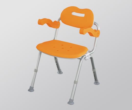 シャワーチェア VAL41612D 固定 オレンジ 505×450~540×650~750mm