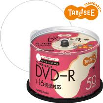 TANOSEE 三菱化学 DHR47JP50T データ用DVD-R 4.7GB 1-16倍速 スピンドルケース 300枚