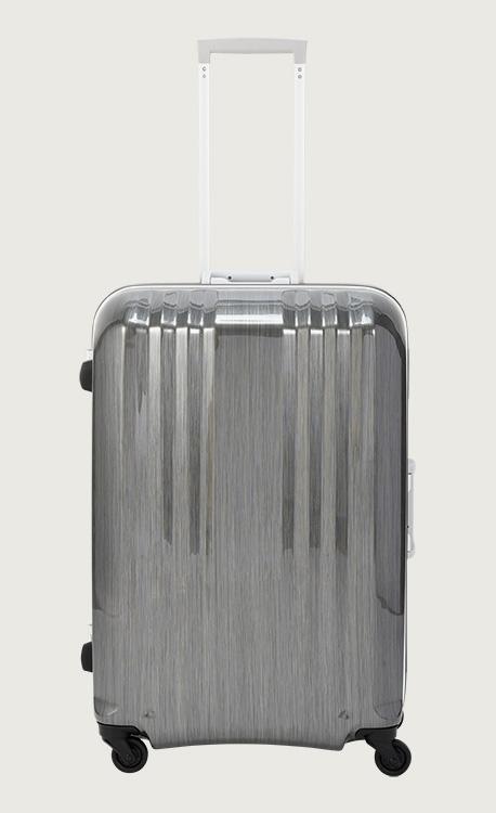 アジア・ラゲージ デカかる  ガンメタブラッシュ スーツケース(64L/4~7泊) MM-5388