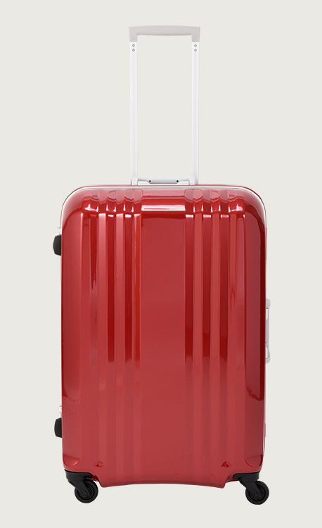 アジア・ラゲージ デカかる  クリスタルレッド スーツケース(113L/1週間以上) MM-5788