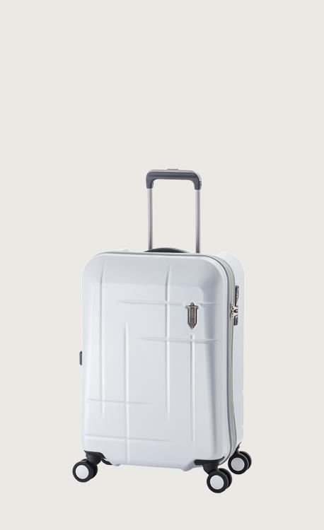 アジア・ラゲージ WATER ZERO マットブラッシュホワイト スーツケース(38L/1~2泊) 機内持ち込み可 WTZ-1533K