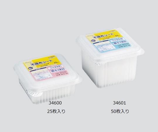 アルウェッティBox-E 不織布シート(酒精綿) 34601(得々パック) サイズ(mm):150×150(4ツ折) 1箱(50枚/個×24個)【医薬品部外品】