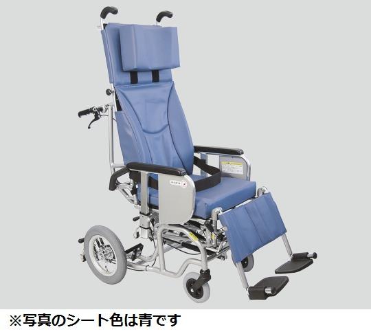 チルト&フルリクライニング車椅子 (クリオネット) AYK-40 A13 介助式 濃紺チェック 610×1220×1350mm