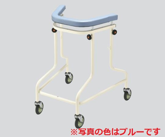 NAVIS(ナビス) らくらくあるくん(R) (ネスティング歩行器)Rkun-SOR オレンジ 抵抗器無し ネスティングして2台分のスペースで4台収納できます