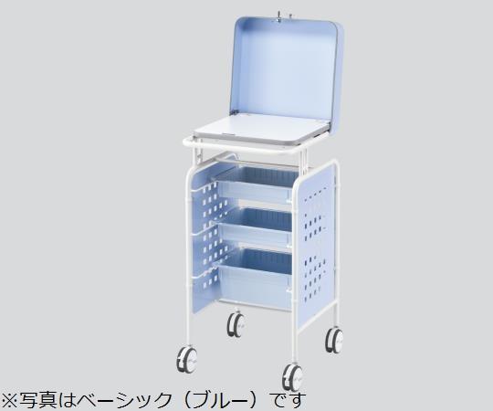 セキュリティーPCカート 本体ベーシックPINK ピンク 500×550×1050mm 鍵のかかるセキュリティカバーが付いたPCカートです 【代引き不可】
