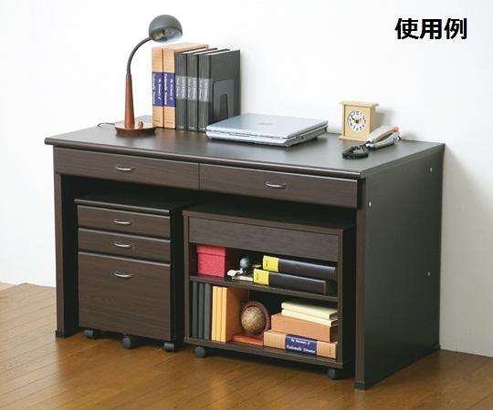 【送料無料/代引不可】木製デスク(システムデスク120) 25165 ブラウン