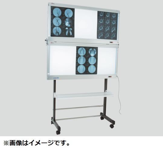 【送料無料/代引不可】シャウカステン グロー方式(移動架台型) 半切5枚掛2段 1855×85×1085×1840(mm) 50Hz/60Hz LH-D52