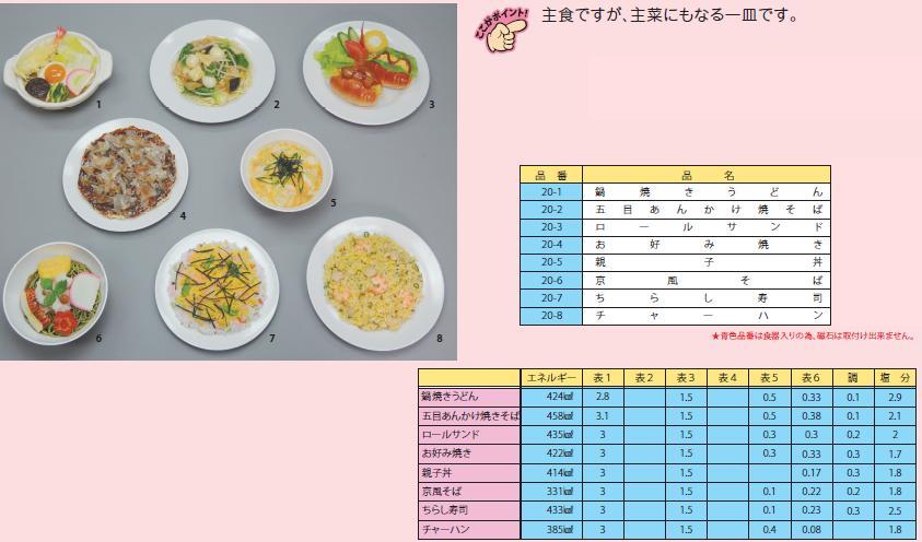 イワイサンプル 糖尿病関連 「主食2」1式セット/食品サンプル/栄養指導用フードモデル