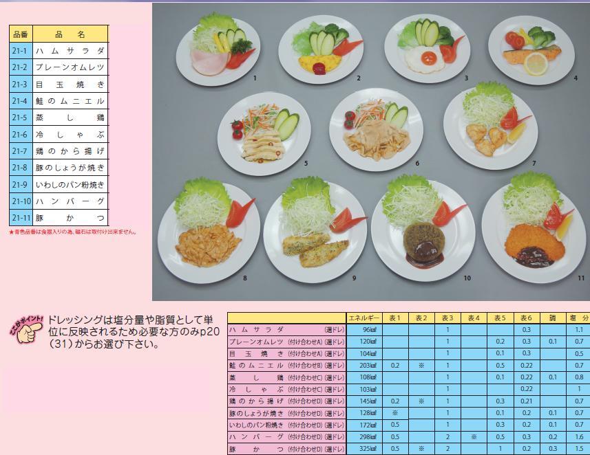 イワイサンプル 糖尿病関連 「主菜1」1式セット/食品サンプル/栄養指導用フードモデル