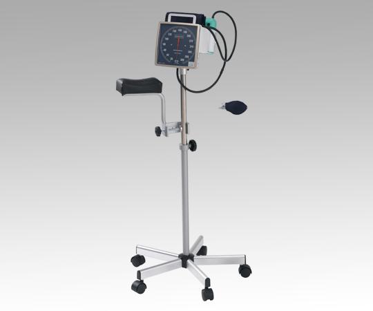 【送料無料/代引不可】スタンド式アネロイド血圧計(加圧ポンプ・上肢台付き) No.542S