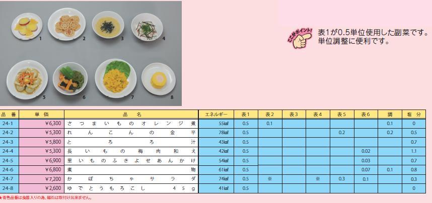 イワイサンプル 糖尿病関連 「副菜1」1式セット/食品サンプル/栄養指導用フードモデル