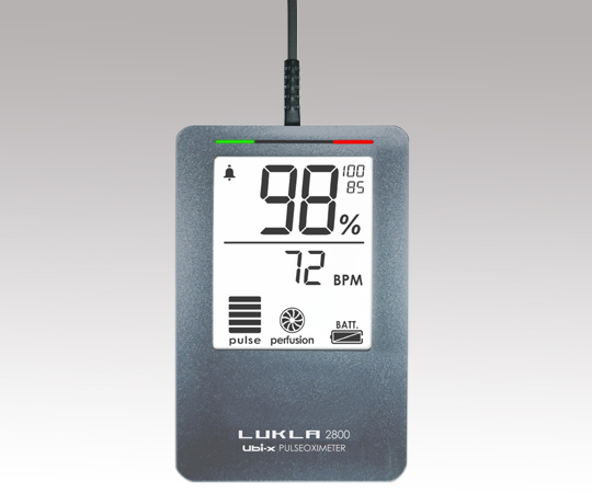 パルスオキシメーター(LUKLA)メモリ・アラーム・ACアダプタ付き LKL2800mac シルバー